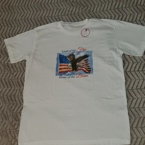 Fourth of July T Shirt. Land of the Free. Large